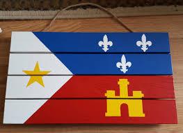 Fleur De Lis Home Decor Lafayette La Acadiana Flag Painting Pallet Lafayette Strong Cajun