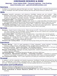 Job Getting Resumes by Hiremaker Resumes U0026 More Resume Service For Tampa Orlando