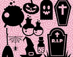 halloween clipart creation kit pumpkin halloween clipart zombie hand silhouettes walking dead