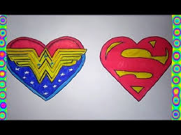 heart superman woman coloring pages love color