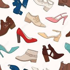 s boots style seamless pattern with different types of s boots and shoes