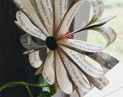 book page ornaments etsy