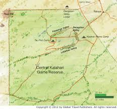 africa map kalahari central kalahari lrg jpg