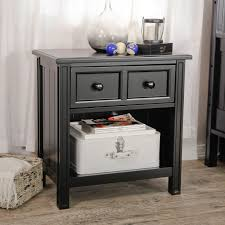 nightstand mirrored end table with drawers glass dressers