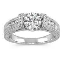 channel set engagement rings vintage cathedral pav eacute and channel set engagement