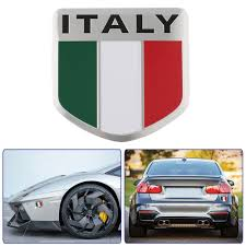 maserati fiat 3d aluminum italy map national flag car sticker car styling for