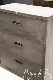Chalk Paint On Metal Filing Cabinet How To Give Metal A Brushed Steel Look Maison De Pax
