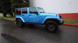 lifted jeep blue 2010 jeep wrangler unlimited sahara blue al166895 kirkland