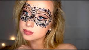 lace masquerade mask tutorial halloween makeup youtube