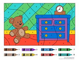 color number printables