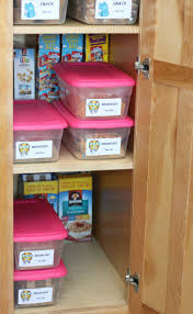 kids organization easy back to breakfast and snack pantry faithfully free