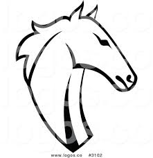 free logo design horse royalty free vector black and white horse head logo by vector