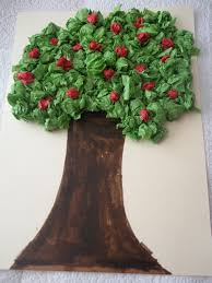 tissue paper apple tree simple projects apple tree and apples