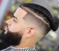 hair braided on the top but cut close on the side top knot men 10 stylish ways to rock the male top knot trend