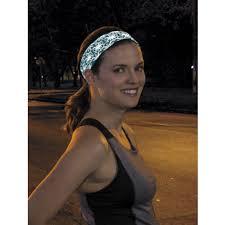 sport headband nitebright ultra reflective no slip sport headband teal sweat in