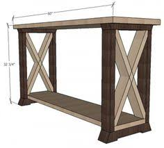 Free Rustic End Table Plans by Ana White Build A Rustic X End Table Free And Easy Diy Project
