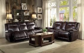 Reclining Sofa And Loveseat Sets Homelegance Wasola Reclining Sofa Set Leather Gel Match Dark
