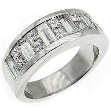 mens engagement ring mens 3 5 carat princess baguette cut diamond ring wedding band