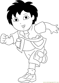 diego 09 coloring page free go diego go coloring pages