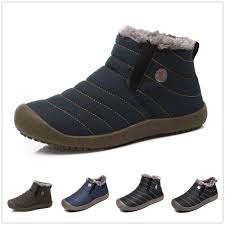 amazing sitaile mens winter snow ankle boots fur lined casual