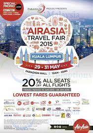 airasia travel fair airasia travel fair 28 may 2015 air asia 20 off all seats travel
