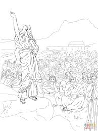 moses speaks to the people coloring page free printable coloring
