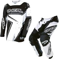 black motocross bike oneal element 2017 racewear motocross jersey u0026 pants black white