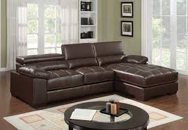 small leather sofa with chaise