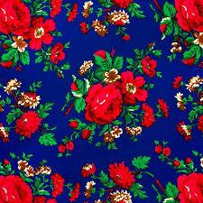 Polyester Flowers - polish art center flowered material 100 polyester 60