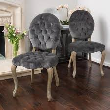 Tufted Dining Room Chairs Sale Home Marianne Grey Velvet Dining Chair
