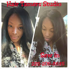 vixen sew in on short hair hair tamers studio hair salon in baton rouge