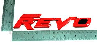 toyota hilux logo red logo hilux revo rear tailgate emblem decal fit toyota revo sr5
