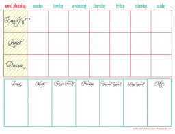 printable menu planner pages printable meal planner best meal planning templates ideas on