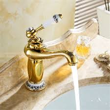 versilia gold finish sink faucet brass single handle with ceramic