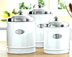 beautiful kitchen canisters ceramic kitchen canister sets 3 ivory ceramic canister set