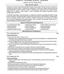 Resume Template For Real Estate Agents Real Estate Agent Resume Sample Professional Resume Format