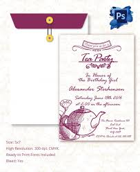 tea party invitation template bridal tea party invitations to