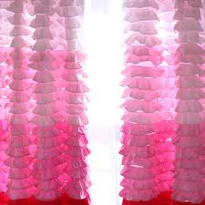 Ruffled Pink Curtains Ruffle Curtain