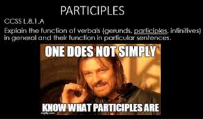 Meme Notes - participles and their functions powerpoint with memes and student