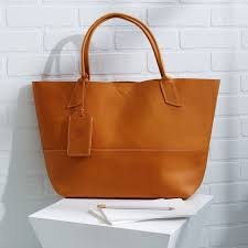 Handmade Leather Tote Bag - bubo handmade tote bag west elm