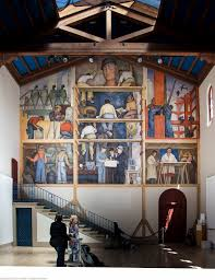 diego rivera in san francisco demerjee travels more making of a fresco showing the building of a city 1931 by dieg