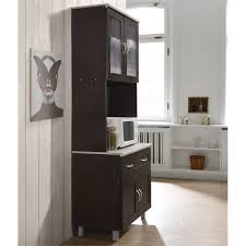 kitchen cabinet with top and bottom hodedah kitchen cabinet top and bottom enclosed cabinet space in chocolate wood
