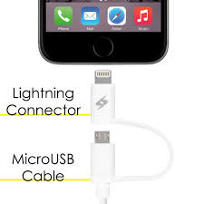 cable with 2 in 1 micro usb 3 2 feet 1 meter white