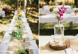 Backyard Wedding Centerpiece Ideas A Whimsical Wooded Backyard Wedding Daniel