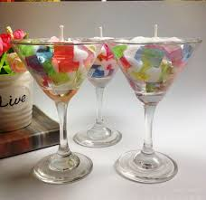 wine birthday candle 6pcs colorful jelly fruit sala candle with glass cup for birthday