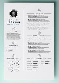 Free One Page Resume Template Resume Template Pages 41 One Page Resume Templates Free Samples