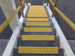 frp stair tread covers for solid slip resistant step