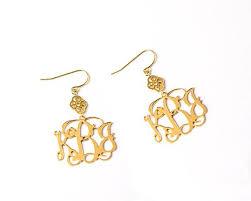 Gold Monogram Earrings 24 Best Rings U0026 Earrings Images On Pinterest Gold Earrings