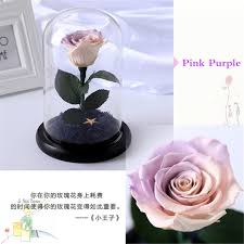 preserved roses the prince glass cover fresh preserved flower immortal