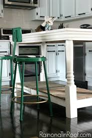 diy kitchen island with salvaged wood